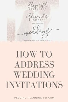 Learn how to address wedding invitations today! Also see photos and shop for beautiful wedding invitations. Get ideas and inspiration today - start planning for your wedding stationery. #WeddingInvitations #WeddingInvitationIdeas #AddressingWeddingInvitations #HowToAddressWeddingInvitations #HowToWedding
