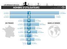 Combien d'utilisateurs des réseaux sociaux en France et dans le monde en 2014 ? | Médias sociaux et réseaux professionnels