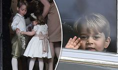 PRINCE George and Princess Charlotte upstaged bride Pippa Middleton after arriving to the wedding in adorable outfits fit for their starring roles. Prince William Family, Prince William And Catherine, William Kate, Pippa Middleton Wedding, Middleton Family, Kate Middleton, Princess Kate, Princess Charlotte, Duchess Kate