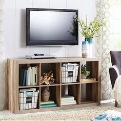 Ikea cube entertainment center cube home decorations ideas for birthday . ikea cube entertainment center flat home Cube Bookcase, Cube Shelves, Ikea Shelves, Bookshelves, Shelving, 8 Cube Organizer, Ikea Cubes, Cube Storage Unit, Wood Storage