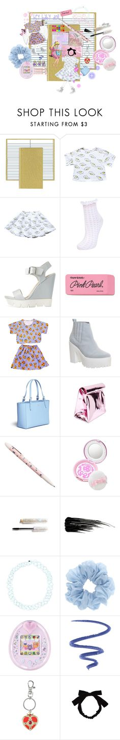 """""""too kawaii for senpai."""" by ekhayz ❤ liked on Polyvore featuring Pendaflex, Miss Selfridge, Charlotte Russe, Paper Mate, Office, Tory Burch, Yesimfrench, Guide London, Urban Decay and Mina"""