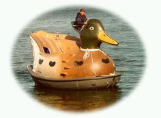 Fin-Duck is a boat, a sauna, a duck, a summer cottage powered by an outboard motor
