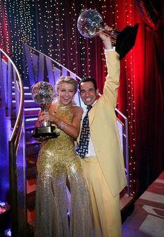 Season 5 Winners - Helio Castronevous & Juliane Hough.