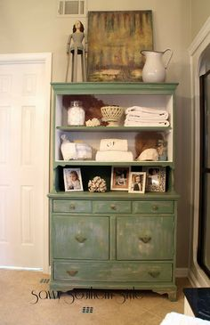 Bathroom Hutch furniture :: gorgeous armoire for bathroom & towel storage | my