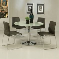 Pastel Furniture Golden Gate/Sundance Five Piece Dining Set