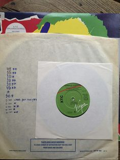 """XTC 7"""" and John's notes by JohnPeelArchive, via Flickr John Peel, New Wave, Archive, Notes, Colour, Music, Sleeves, Color, Musica"""