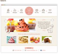 Weekly Web Design Inspiration 01 What's the cutest about this is the little line drawings at the top.