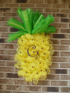 The Welcome Pineapple by LollyDotsBoutique on Etsy, $55.00