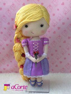 Rapunzel em feltro Enrolados Decoração  Festa aniver´sario