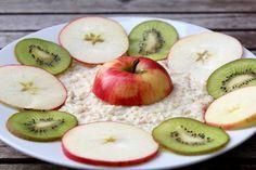 Protein Power-Porridge mit Apfel und Kiwi