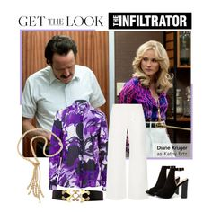 """Diane Kruger in The Infiltrator"" by polyvore-editorial ❤ liked on Polyvore featuring Basler, The Row, Bamboo, Carolee, DianeKruger and TheInfiltrator"