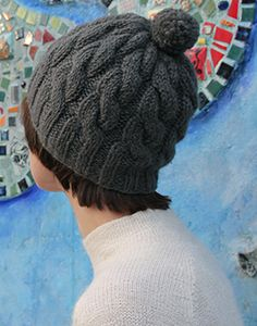 cable hat one of these days would love to learn the art of knitting hats and scarfs. And many other things.
