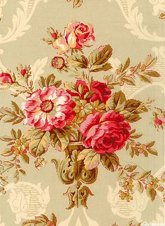 "Notting Hill - Baroque Bouquet - Taupe -108"" QUILT BACKING"