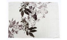 Hand screen printed 100% linen Tea Towel Robin on linen