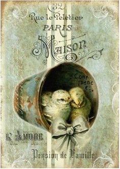 Vintage Labels, Vintage Cards, Vintage Postcards, Vintage Images, Easter Pictures, Easter Traditions, Vintage Easter, Transfer Paper, Scrapbook Albums