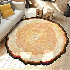 Trees Ring Mat 31x31inches Doormat Accent Non-Slip Rug Kitchen Dining Living Hallway Bathroom Pet Entry Rugs Catchnew