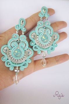 Reje creations soutache chandelier earrings Tiffany…