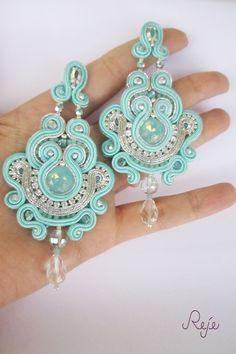 Reje creations soutache chandelier earrings Tiffany https://www.facebook.com/rejegioielliinsoutache