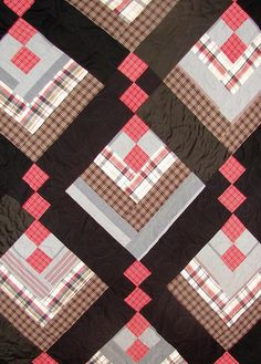 Memory quilt from man's clothing | Flickr - Photo Sharing!