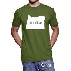#Oregon Legalized Pot Men's T-Shirt #PotTeez