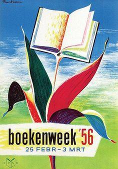 Boekenweek 1956 ontwerp  Fedde Weidema