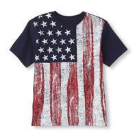 vertical flag graphic tee
