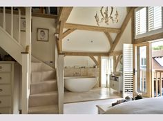 House plans modern country bedrooms new Ideas Open Plan Bathrooms, Rustic Bathrooms, Nautical Bathrooms, Ensuite Bathrooms, Chic Bathrooms, Bathroom Vanities, Modern Country Bedrooms, Modern Bedroom, Barn Conversion Interiors