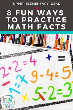 Are you looking for fun, interactive ways to teach math facts? Here are 8 fun ways to practice math facts in the classroom or at home. Includes both paper resources, movement activitities as well as digital resources! Your students will master those math facts with these fun activities!
