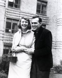 Dr. Ray Charles Wunderlich Jr. shares some time with poet Sylvia Plath, whom he was dating, in about 1953.