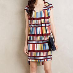 "Maeve Au Revior Multi Colored Dress for Anthro Let your colors shine with this fun multi colored dress. Sold out online and in store. Tunic silhouette, high low hem, fully lined, hand wash. Viscose, rayon, and poly lining. Is 38"" from shoulder to hem. Anthropologie Dresses Midi"