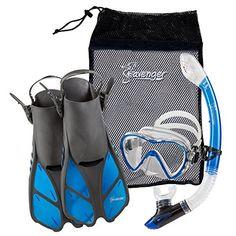 Seavenger Diving Dry Top Snorkel Set with Trek Fin, Single Lens Mask and Gear Bag, S/M - Size 4.5 to 8.5, Gray/Clear Blue -  http://www.trendingviralhub.com/seavenger-diving-dry-top-snorkel-set-with-trek-fin-single-lens-mask-and-gear-bag-sm-size-4-5-to-8-5-grayclear-blue/ -  - Trending + Viral Hub