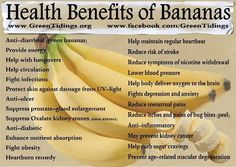 Heath benefits of eating bananas