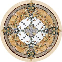 Larger image for Geneva In Stone Medallions - part of Czar Floors collection of unique decorative flooring products.