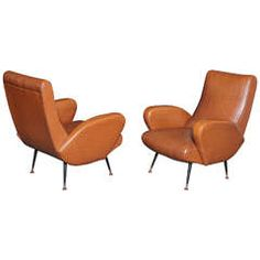 Pair of Italian Chairs, Made in 1955