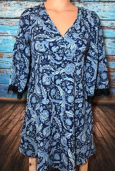 Candie's Junior's Blue Floral Paisley Dress Sz XS Extra Small Boho   | eBay