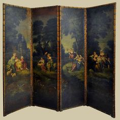 18th Century French Painted Screen