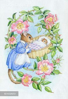 PortForLio - Dormouse rocking baby dormouse in cradle