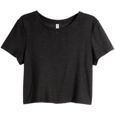 H&M Ribbed jersey top ($6.22) ❤ liked on Polyvore