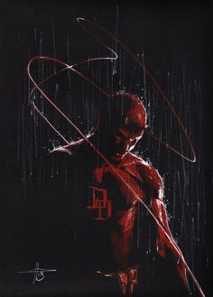 Daredevil by Gabriele DellOtto in 2013 at Angoulême Comic Art http://www.alteregocomics.com/