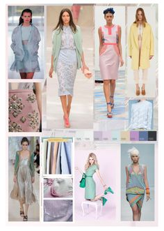 PASTEL PERFECT: Key trend of SS14  Creator: Gillian Jinks Software: Adobe Photoshop CS5.