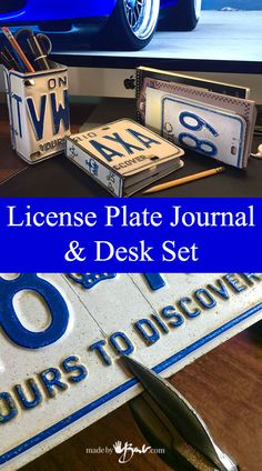 Once you start to make gifts it becomes a habit. And it starts to become expected. So what can you get that car enthusiast guy? Oh, I bet you have some license plates hanging around somewhere. Yup, it's birthday time…