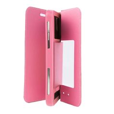 Spare Parts :: Silicon Case :: More Brand :: HOMTOM HT3, 5.0 inch Smartphone Matte Surface Horizontal Flip Leather Case with Holder & Screen Protector Film(Pink)