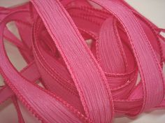 Deep Pink  42 inch silk ribbon By Color by ColorKissedSingles, $3.00