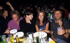 Royston Langdon, Liv Tyler, Kate Moss and Evan Dando at a party at the Roxy - September 15th 1998