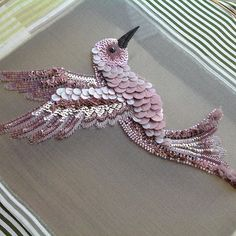 33 ideas embroidery techniques embellishments tambour beading Source by You could feel that Zardozi Embroidery, Tambour Embroidery, Bird Embroidery, Couture Embroidery, Embroidery Motifs, Bead Embroidery Jewelry, Embroidery Fashion, Modern Embroidery, Hand Embroidery Designs