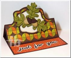 Just For You created by Frances Byrne using Sizzix Royal Stand-Ups Card Framelits; Sizzix Royal Label Framelits; Sizzix Leaf Triplits Framelits