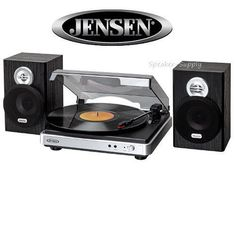 Attractive Jensen JTA 325 3 Speed Turntable Stereo W/ Speakers Record Player MP3 |