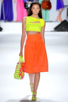 Can't get neon out of my head. Nanette Lepore.