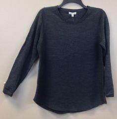 Croft & Barrow Ladies L/S Crewneck Pullover Sweater NEW/NWT Gray Assorted Sizes #CroftBarrow #Crewneck