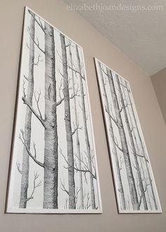 Framed Wallpaper Panels -